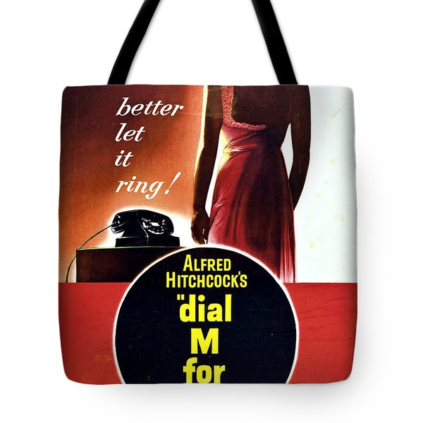 Dial M For Murder - 1954 Tote Bag by Georgia Fowler