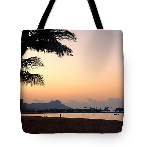 Diamond Head Sunrise - Honolulu Hawaii Tote Bag by Brian Harig