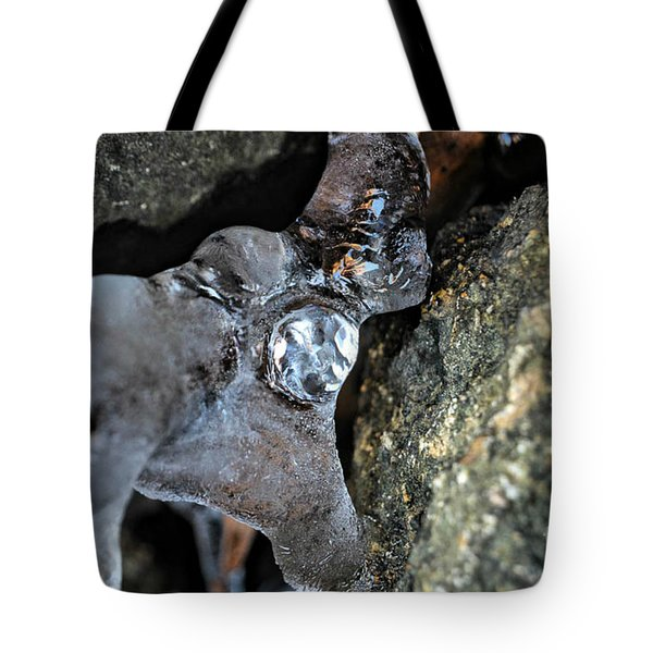 Diamond In The Ruff Ice Tote Bag by Peggy  Franz
