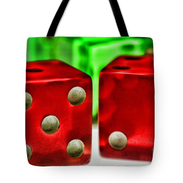 Dice - Lucky Seven Tote Bag by Paul Ward