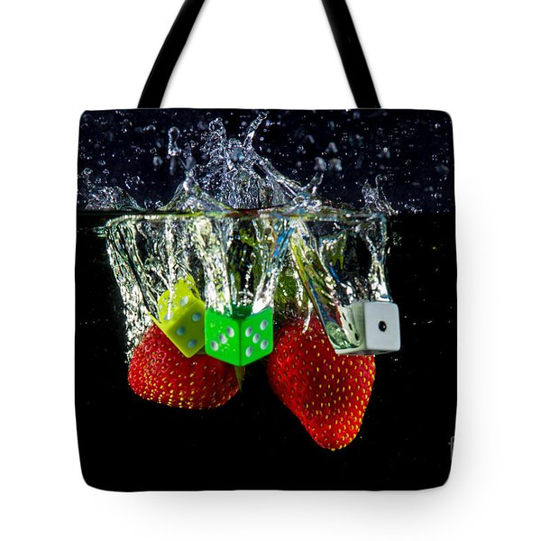 Dice Splash Tote Bag by Rene Triay Photography