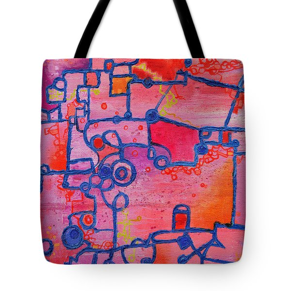 Dichotomy  Original Abstract Oil Painting By Regina Valluzzi Tote Bag by Regina Valluzzi
