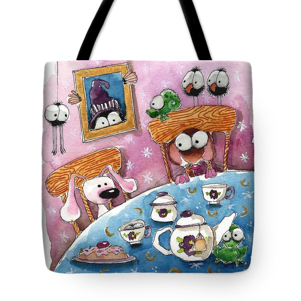 Did You Invite The Witch To Tea Tote Bag by Lucia Stewart