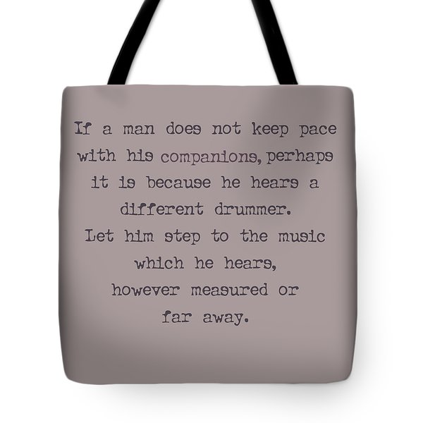 Different Drummer Tote Bag by Nomad Art And  Design