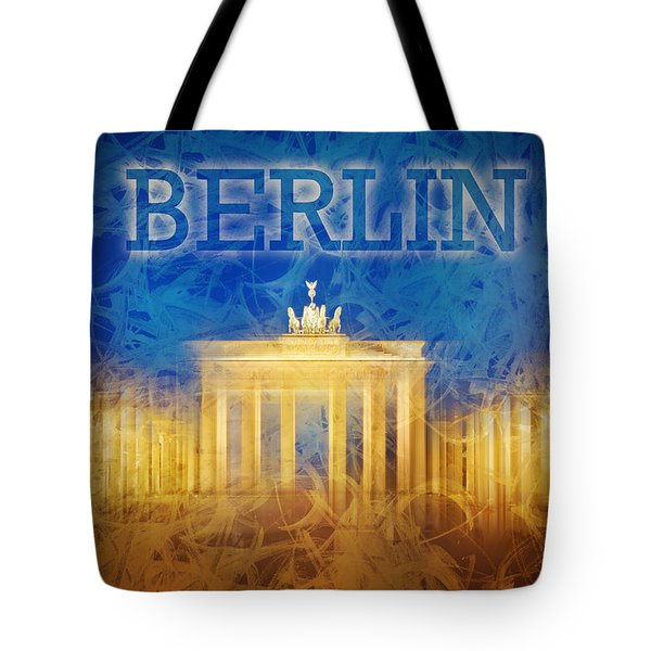 Digital-art Brandenburg Gate II Tote Bag by Melanie Viola