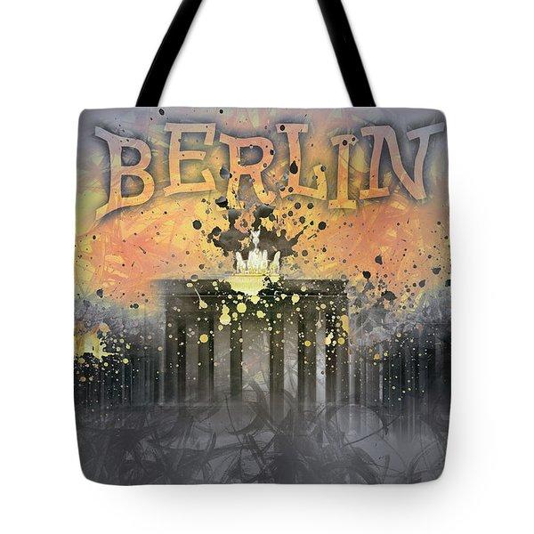Digital-art Brandenburg Gate I Tote Bag by Melanie Viola