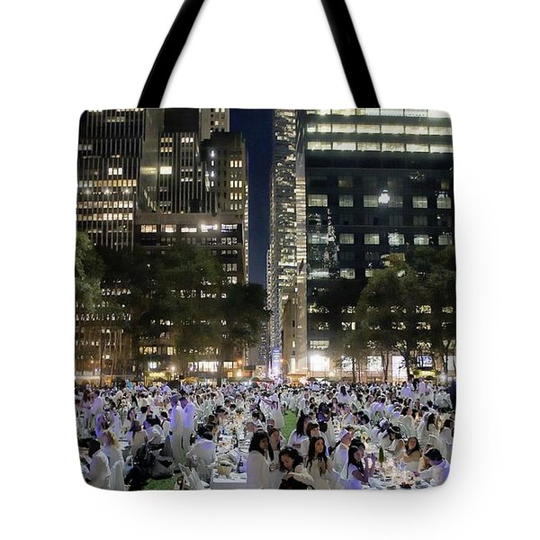 Diner en Blanc New York 2013 Tote Bag by Lilliana Mendez