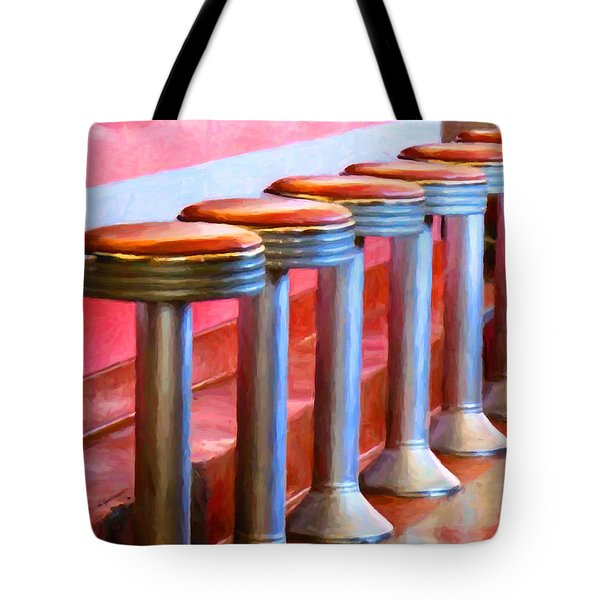 Diner - v1 Tote Bag by Wingsdomain Art and Photography