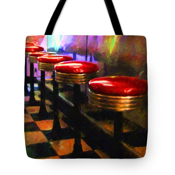 Diner - v2 Tote Bag by Wingsdomain Art and Photography