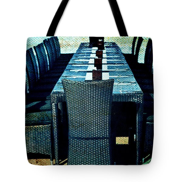Dinner by the Sea Tote Bag by Nomad Art And  Design