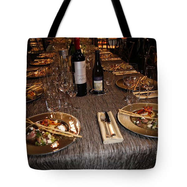 Dinner Is Served Tote Bag by Nina Prommer