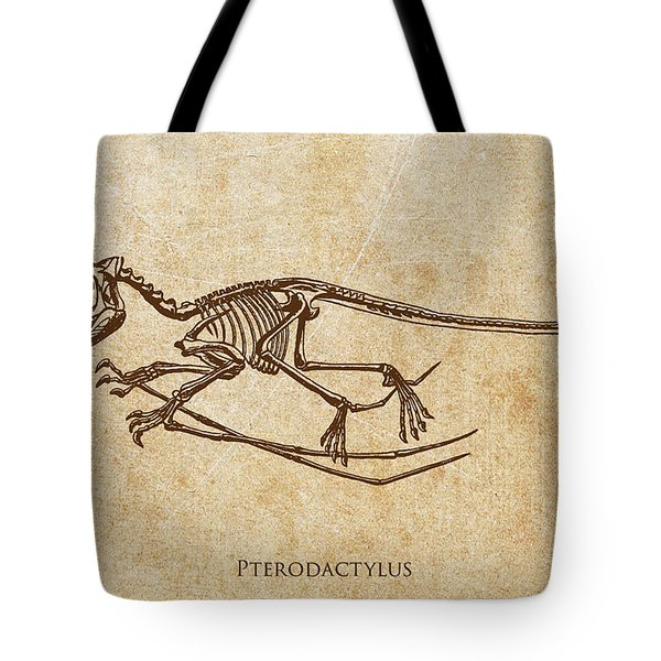 Dinosaur Pterodactylus Tote Bag by Aged Pixel