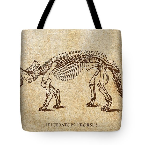 Dinosaur Triceratops Prorsus Tote Bag by Aged Pixel