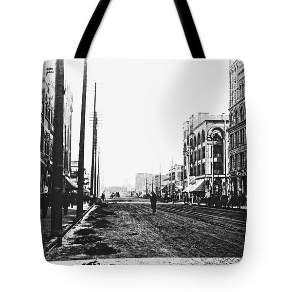 DOWNTOWN DIRT SPOKANE c. 1895 Tote Bag by Daniel Hagerman