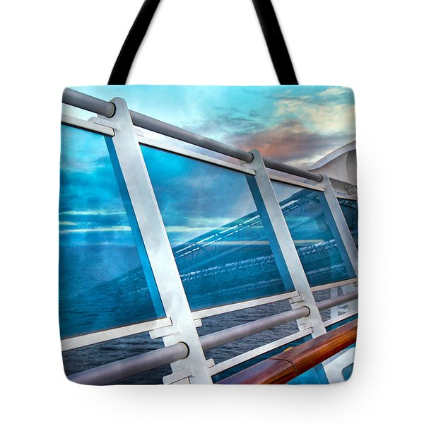 Disappearing into the Sea Tote Bag by Betsy A  Cutler
