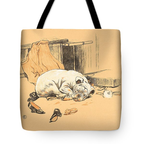 Disappointment At Not Finding The Chocolates Tote Bag by Cecil Charles Windsor Aldin