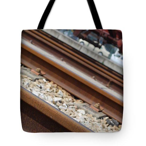 Dismantled Train Station Tote Bag by Luis Alvarenga