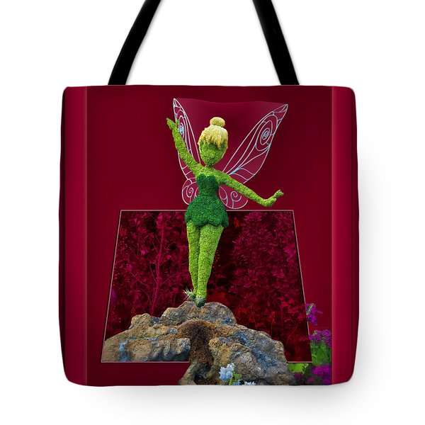 Disney Floral Tinker Bell 02 Tote Bag by Thomas Woolworth