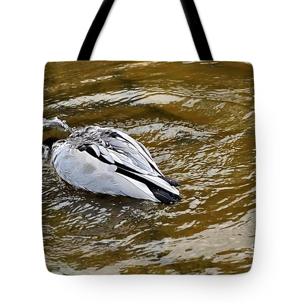 Diving Duck Tote Bag by Kaye Menner
