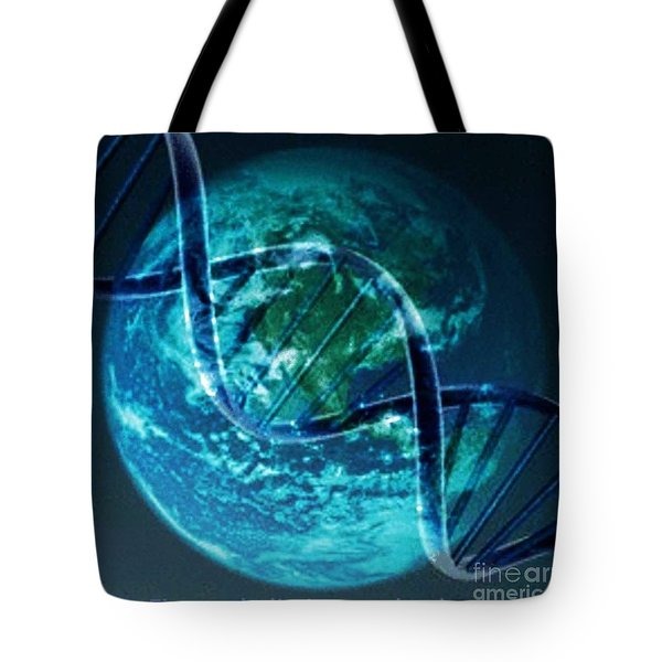 Dna Globe Tote Bag by PainterArtist FIN