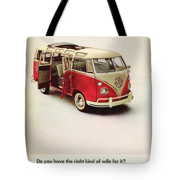 Do You Have The Right Kind Of Wife For It Tote Bag by Georgia Fowler