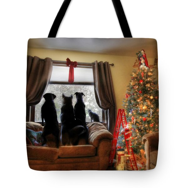 Do You Hear What I Hear Tote Bag by Lori Deiter