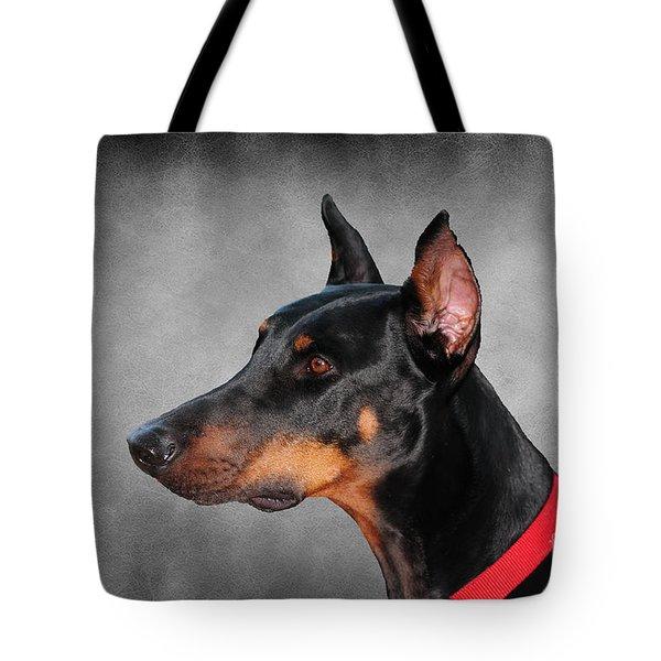 Doberman Pinscher Tote Bag by Paul Ward
