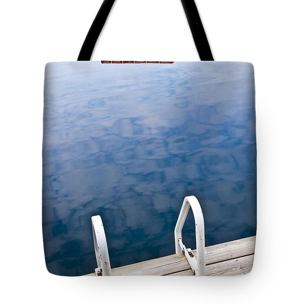 Dock on calm lake in cottage country Tote Bag by Elena Elisseeva