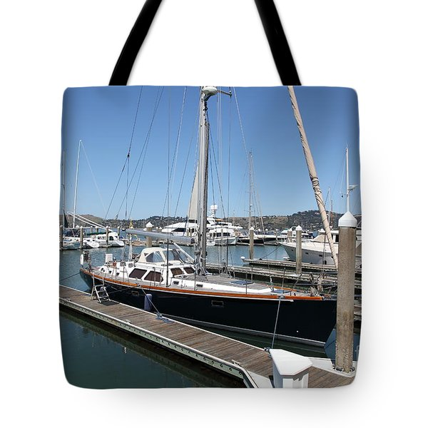 Docks at Sausalito California 5D22688 Tote Bag by Wingsdomain Art and Photography