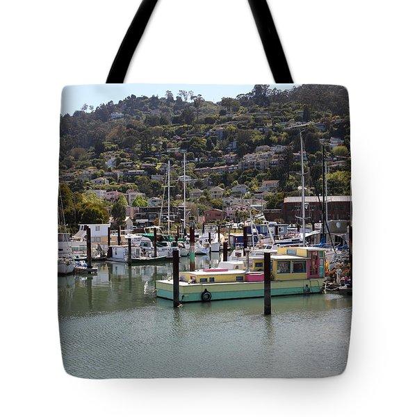 Docks at Sausalito California 5D22697 Tote Bag by Wingsdomain Art and Photography