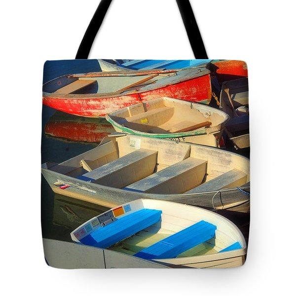 Dockside Parking Tote Bag by Joann Vitali