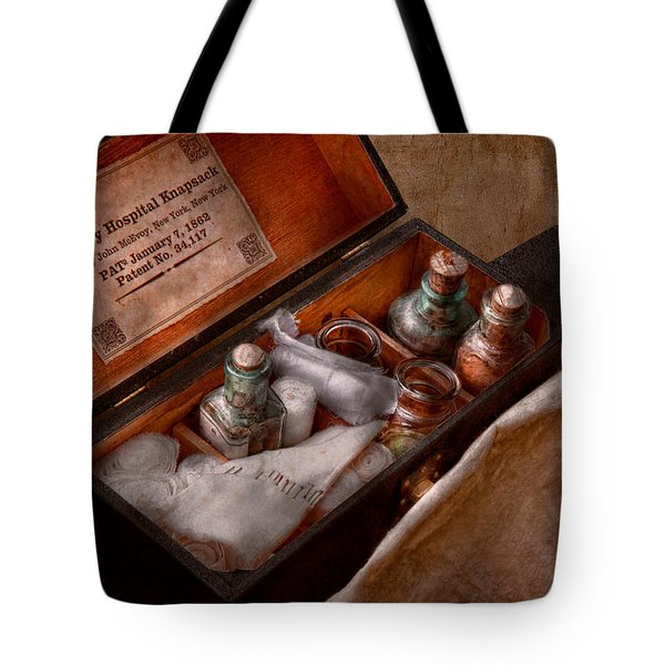 Doctor - Hospital Knapsack  Tote Bag by Mike Savad