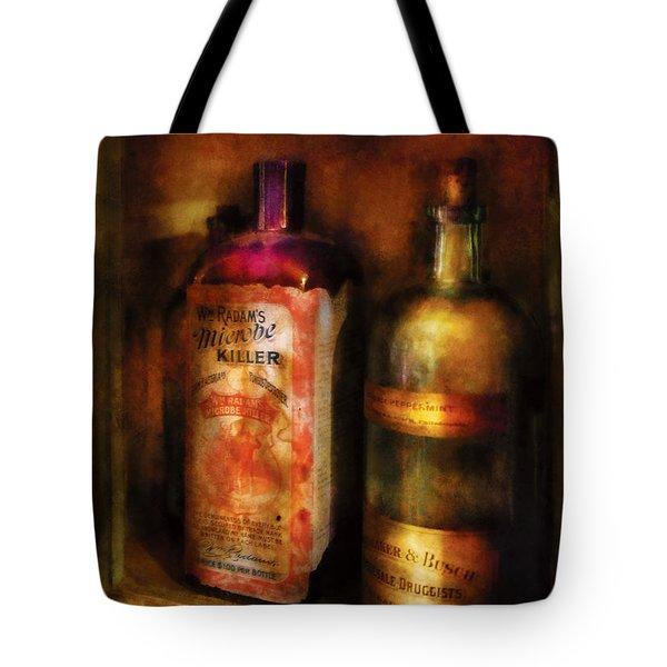 Doctor - Microbe Killer Tote Bag by Mike Savad