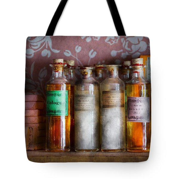 Doctor - Perfume - Soap And Cologne Tote Bag by Mike Savad