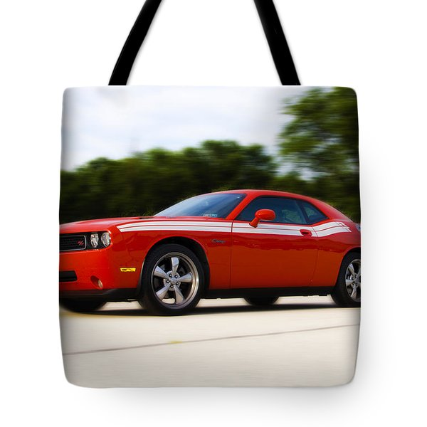Dodge Challenger Tote Bag by Bill Cannon