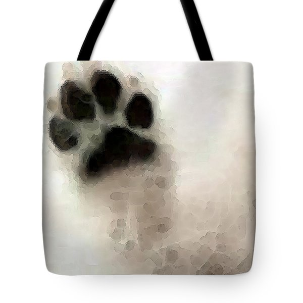 Dog Art - I Paw You Tote Bag by Sharon Cummings