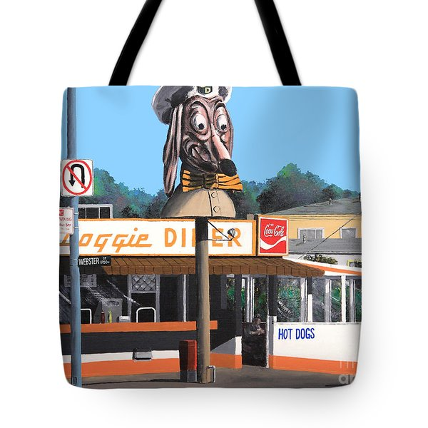 Doggie Diner 1986 Tote Bag by Wingsdomain Art and Photography