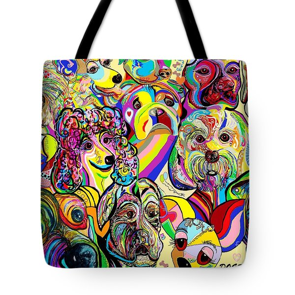 Dogs ... Dogs ... DOGS Tote Bag by Eloise Schneider