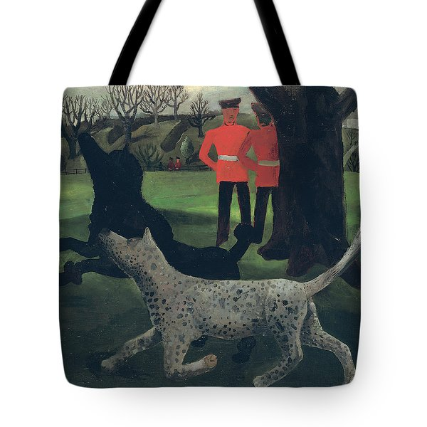 Dogs At Play Tote Bag by Christopher Wood