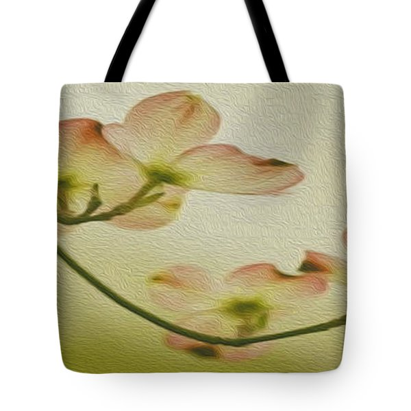 Dogwood Panoramic Tote Bag by Cheryl Young