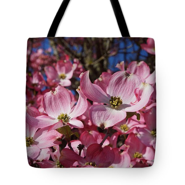 Dogwood Tree Flowers Art Prints Floral Tote Bag by Baslee Troutman