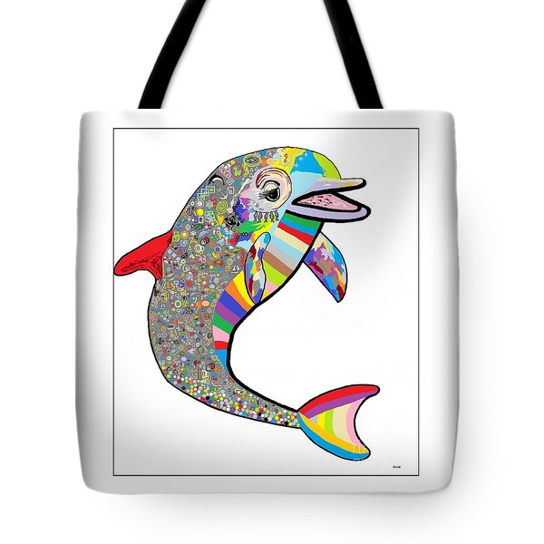 Dolphin - The Devil's In The Details Tote Bag by Eloise Schneider