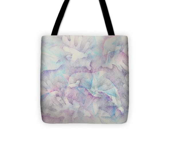 Dolphins At Play Tote Bag by Veronica Rickard