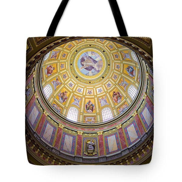Dome Interior of the St Stephen Basilica in Budapest Tote Bag by Artur Bogacki