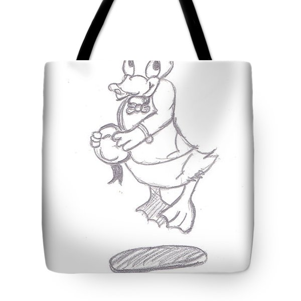 Donald Duck In Love Tote Bag by Melissa Vijay Bharwani