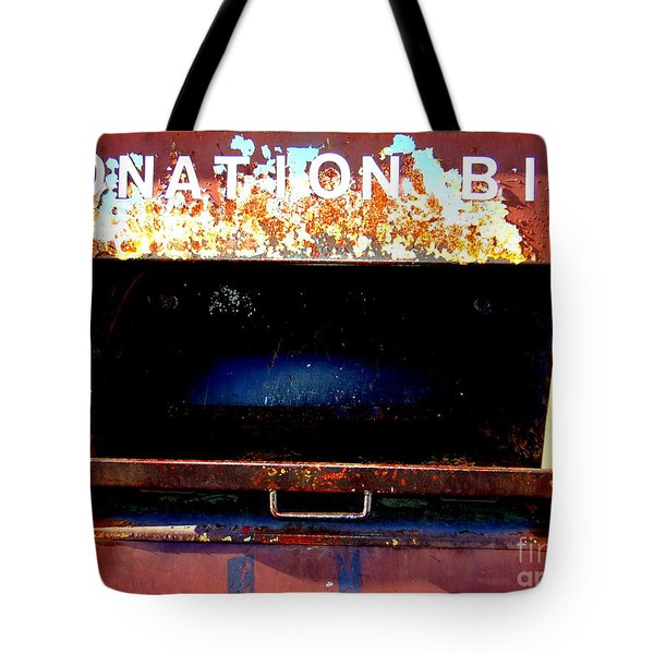 Donation Bin Tote Bag by Ed Weidman