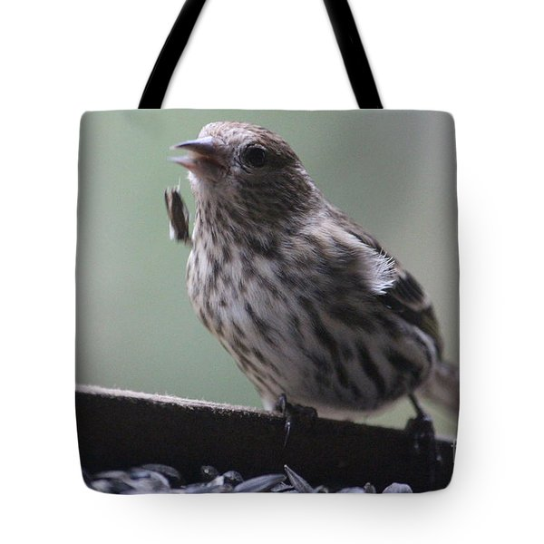 Done Eating That Seed Tote Bag by Kym Backland