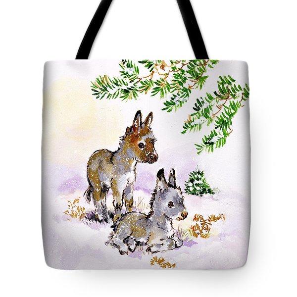 Donkeys Tote Bag by Diane Matthes