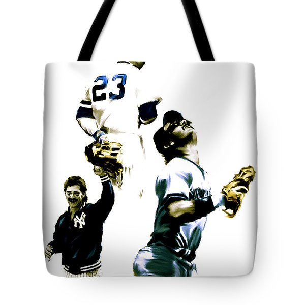Donnie Baseball  Don Mattingly Tote Bag by Iconic Images Art Gallery David Pucciarelli