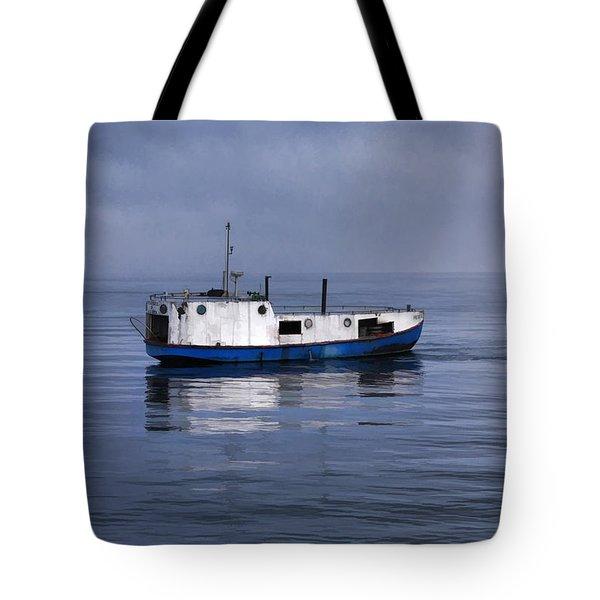 Door County Gills Rock Trawler Tote Bag by Christopher Arndt